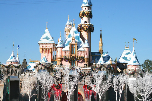 disneyland castle for christmas