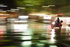 The street of Light (edouardv66) Tags: street longexposure light color night switzerland movement nikon suisse geneva action sigma scooter explore transportation vehicle genève swishpan 2470 nikonsigma d700