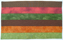 Autumn Leaves Orange Brown Chartreuse Green Placemats (suchprettycolors) Tags: crafts autumnleaves autumncolors patchwork warmtones tablelinens