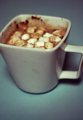 hot chocolate (ginnerobot) Tags: blue winter white cold warm drink sweet chocolate hotchocolate mug simple marshmellows project365