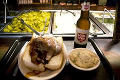 God Bless Texas (mikehaskew) Tags: beer restaurant salad nikon beef onions potato pickles barbeque lonestar brisket 18105 d90