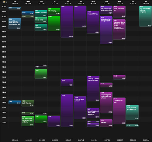 Excit AS3 Recode - Timetable