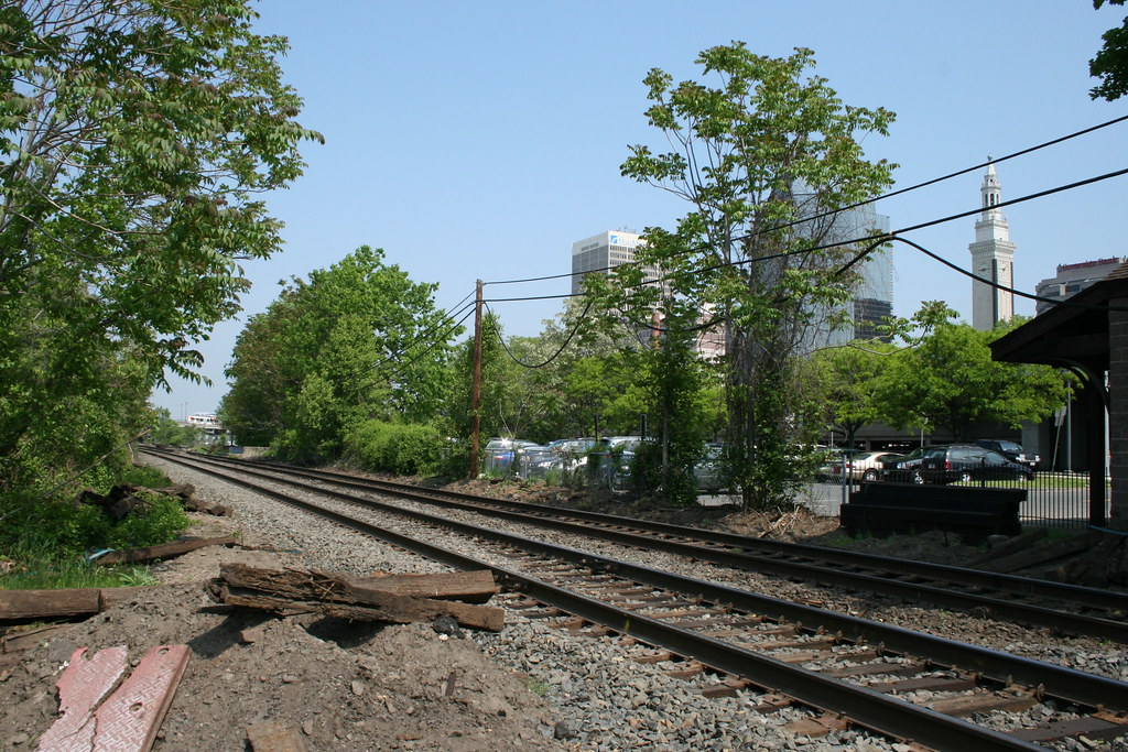 Rails in downtown Springfield. Photo by H Brandon