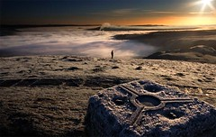 mam tor sunrise (MartinTheHat (Martin Lowery)) Tags: uk chimney england cloud sun silhouette fog sunrise landscape frost view path derbyshire peakdistrict smoke stack canon350d summit vista sunburst digitalrebel viewpoint hilltop panaorama mamtor castleton hopevalley trigpoint gndfilter sigma1020 peaknationalpark mywinners damniwishidtakenthat topphotographydecember2008winner