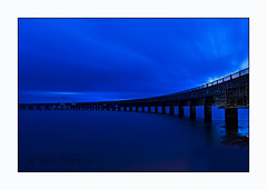 Pretty Blue - Tay Rail Bridge - Dundee Scotland (Magdalen Green Photography) Tags: bridge scottish calm magdalengreen tayside coolblue iaingordon dundeewestend prettybluetayrailbridgedundeescotland dundeephotography magdalengreenphotography