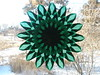 Green 16 Point Starburst - Christmas Window Star