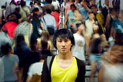 Mongkok (TGKW) Tags: boy portrait people man motion station yellow stairs underground movement crowd steps chinese wilson vest mongkok mtr 0135