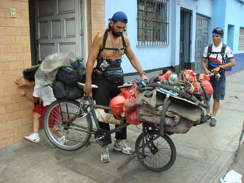 Brazilian Dorico and his heavy-duty bike...