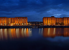 Double dock (Mr Grimesdale) Tags: reflection night liverpool olympus albertdock merseyside e510 mrgrimsdale stevewallace salthousedock europeancapitalofculture2008 mrgrimesdale