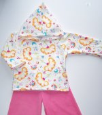 Euro Floral and Pink Cord Set - 2T
