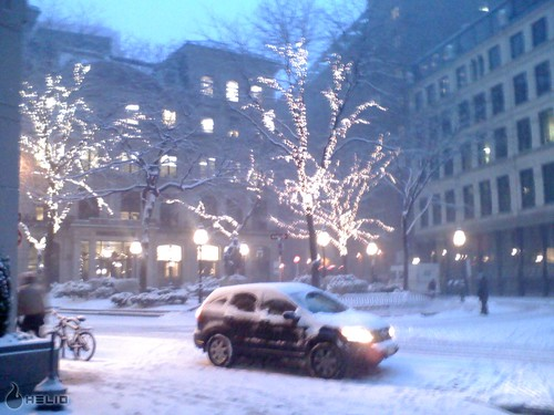 Winthrop Sq, downtown, 4 pm