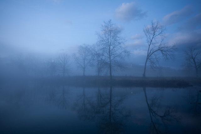 Fog rolls in over the Shenandoah