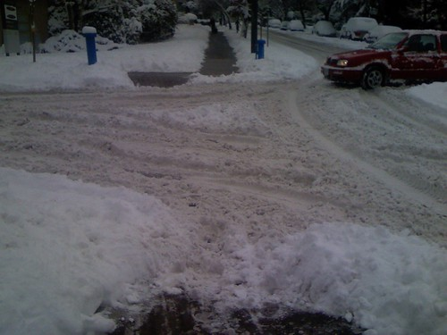 Sidewalks clearer than roads