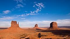 Mittens & Butte (wenzday01) Tags: travel wallpaper arizona topv111 landscape utah ut topv555 topv333 nikon widescreen az nikkor monumentvalley monuments 169 buttes d90 westmitten eastmitten nikond90 18105mmf3556gedafsvrdx