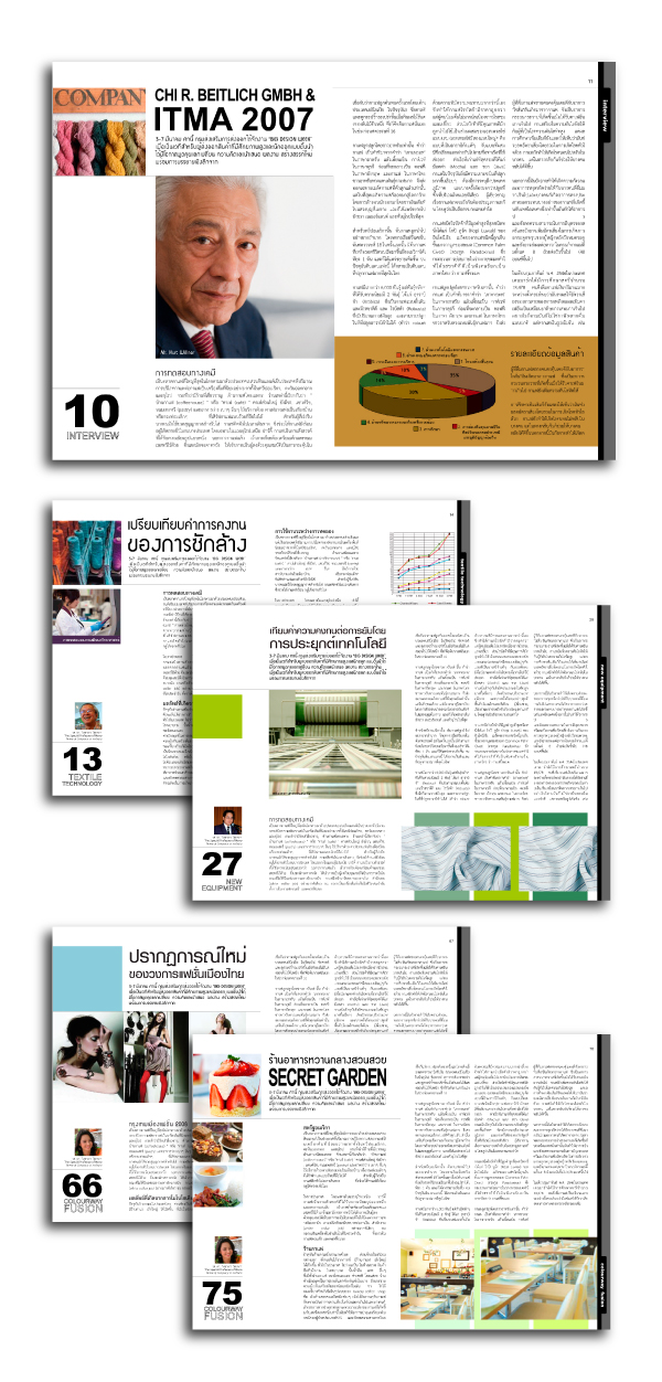 magazine design samples. Page layout samples