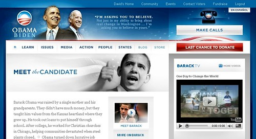 my.barackobama.com- Learn Section Screenshot - 11/03/08