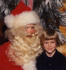 Evil Santa and my kid brother Mike