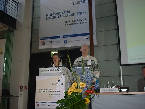 Christine Denz und Erhard Renz Regiosolar 2004 Berlin