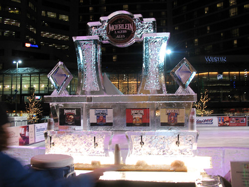 Christian Moerlein Ice Bar at Fountain Square