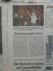 Shalom ... (mkorsakov) Tags: demo israel anti dortmund palstina zeitung