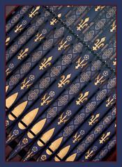 Organ pipes (Lawrence OP) Tags: blue detail london church dominican pipes organ fleurdelys priory stdominics