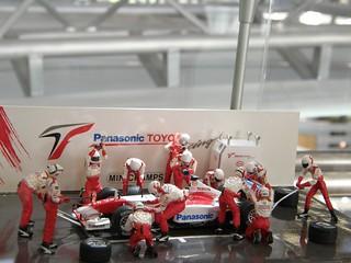 《トヨタ会館》F1 Pit 模型