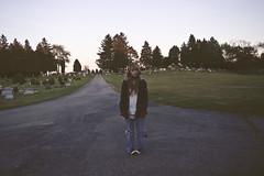 (yyellowbird) Tags: selfportrait girl cemetery cari
