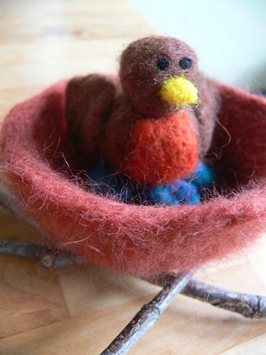 Jenny: Needle Felted Birdie