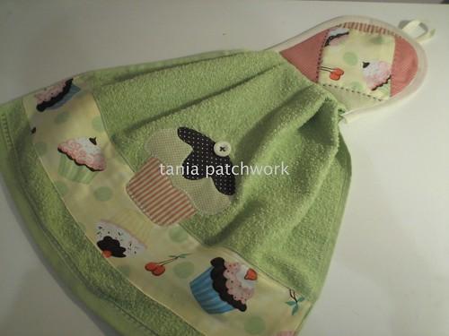 Bate mão Cupcake Pistache by tania patchwork