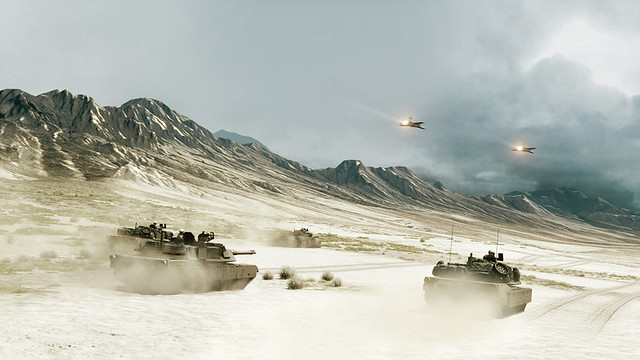 Battlefield 3 - All armoured elements, move up
