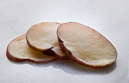 3 potato slices