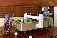 Time Paradox: Ping Pong Showdown (~Amadgunslinger~) Tags: robot lego fig mini scifi samurai fi minifig custom medievil sci