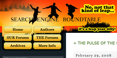 Search Engine Roundtable Leap Year Theme