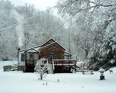Snowy afternoon in January (garyhymes) Tags: road trees winter fab chimney house snow cold ice home stone rural frozen snowy smoke maryland precipitation howardcounty patapsco mywinners mywinner marriottsville flickrenvy marriottsvilleroad