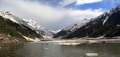Lake Saif-ul-Malook (:.Mustafa.:) Tags: pakistan panorama lake mountains ice water landscape northern saifulmalook aplusphoto showmeyourqualitypixels