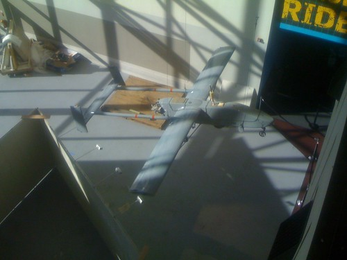 UAV Exhibit before it was completed at the Smithsonian (March 2008)