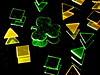 Are You Ready? (jciv) Tags: desktop wallpaper irish macro reflection green gold foil picasa confetti stpatricks shamrock stpatricksday raynox 430ex file:name=img0155