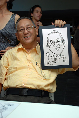 Caricature Christopher Tan 60th birtyhday party 1