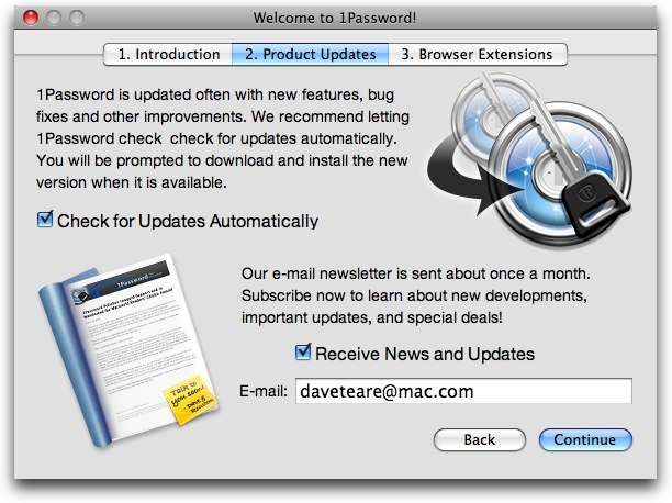 1Password Welcome Assistant (Page 2)