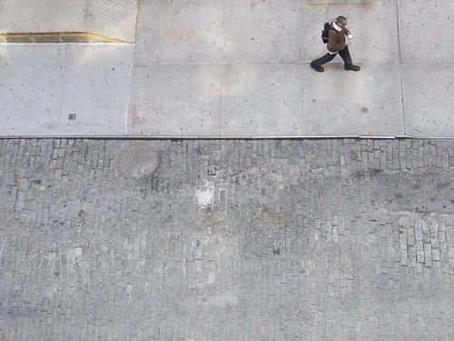 walking man at 10:15 am