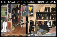 House of the Rubber Boot, FRANCE (pascal en bottes) Tags: boots goma rubber maison wellies waders gummistiefel botte bottes botas gumboots gomma caoutchouc stivali