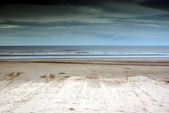 Beach (robertmccornet) Tags: uk sky bird wales clouds seaside sand seagull tracks lifeboat rhyl irishsea april2008 robertmccornet