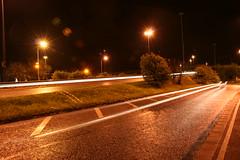 3 (Wingingit) Tags: road street nottingham longexposure light cars night dark underpass subway graffiti headlights clifton brigde
