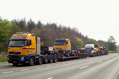 A69 time for Breakfast (eurodaily3510) Tags: scotland volvo ray fred hull irvine ddm scania nooteboom rayliable pilingrig