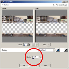5 Gaussian blur option