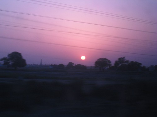 Another pretty sunset from an Indian train