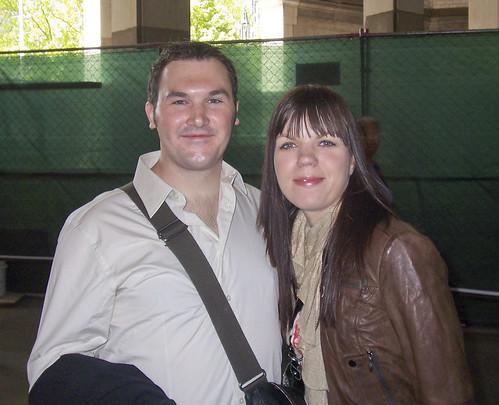 Das Paar vor der Trauung