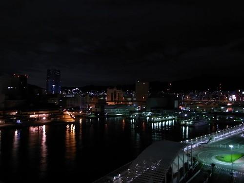 夜的神戶港