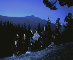 Night Photography Students  at Olmstead Point (Sharper24) Tags: california nightphotography night yosemite tiogapass olmsteadpoint steveharper diamondclassphotographer flickrdiamond mamiyarb6x7pros goldstaraward