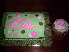Ella's Green Polka Dot Birthday Cake